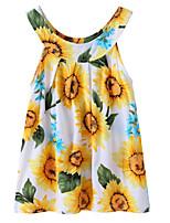 Недорогие -Дети / Дети (1-4 лет) Девочки Цветок солнца Цветочный принт / Жаккард Без рукавов Платье