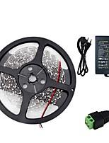 baratos -HKV 5m Faixas de Luzes LED Flexíveis / Conjuntos de Luzes 300 LEDs SMD5630 Adaptador de energia 1 X 5A Branco Quente / Branco Frio Cortável / Conetável / Auto-Adesivo 100-240 V