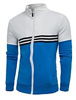cheap -Men's Long Sleeve Slim Sweatshirt - Color Block Stand