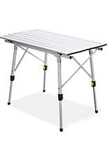 Недорогие -BEAR SYMBOL Туристический стол На открытом воздухе Легкость, Противозаносный, Складной Алюминиевый сплав для Рыбалка / Походы Серебряный