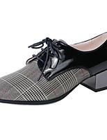 baratos -Mulheres Sapatos Confortáveis Pele Napa Primavera Saltos Salto de bloco Dourado / Prateado / Rosa claro