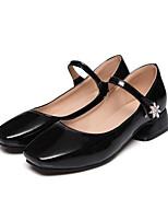 Недорогие -Жен. Лакированная кожа Весна Удобная обувь Обувь на каблуках На толстом каблуке Белый / Черный / Розовый