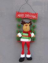 economico -Ornamenti di Natale Vacanza Stoffa (cotone) Quadrato Originale Decorazione natalizia
