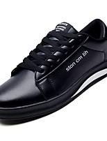 Недорогие -Муж. Комфортная обувь Полиуретан Осень Кеды Белый / Черный / Черно-белый