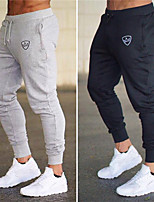 cheap -Men's Jogger Pants - Gray, Army Green, Red Sports Solid Color Bottoms Running, Fitness, Gym Activewear Keep Warm, Breathable, Soft Stretchy