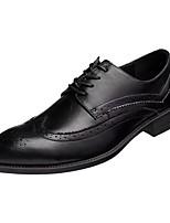 Недорогие -Муж. Комфортная обувь Полиуретан Осень Туфли на шнуровке Черный / Для вечеринки / ужина