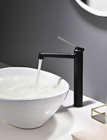 cheap -Bathroom Sink Faucet - New Design Painting / Black Deck Mounted Single Handle One Hole