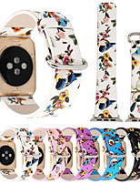 abordables -Bracelet de Montre  pour Apple Watch Series 4/3/2/1 Apple Bracelet en Cuir Cuir / Polyuréthane Sangle de Poignet