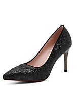 Недорогие -Жен. Обувь Полиуретан Весна лето Удобная обувь Обувь на каблуках На шпильке Белый / Черный / Тёмно-синий