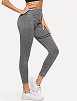 cheap -Women's Sporty / Basic Legging - Solid Colored High Waist