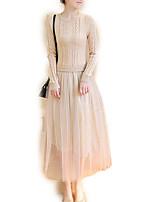 Недорогие -Жен. На выход Трикотаж Платье Средней длины
