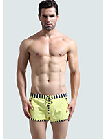 cheap -Men's Boxers Underwear Solid Colored / Striped Low Waist