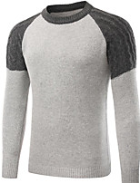 cheap -Men's Basic Pullover - Color Block