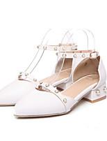 Недорогие -Жен. Комфортная обувь Полиуретан Весна Обувь на каблуках На толстом каблуке Черный / Синий / Розовый