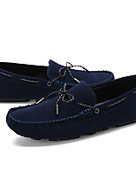 cheap -Men's Moccasin PU(Polyurethane) Fall Casual Loafers & Slip-Ons Non-slipping Black / Dark Blue
