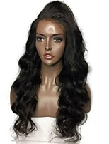 cheap -Remy Human Hair Lace Front Wig Malaysian Hair Body Wave Wig Layered Haircut 130% Natural Hairline / For Black Women Black Women's Long Human Hair Lace Wig