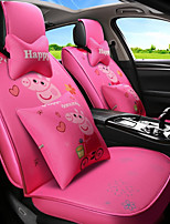 cheap -ODEER Car Seat Covers Seat Covers Pink Textile Cartoon / Common For universal All years All Models