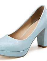 Недорогие -Жен. Комфортная обувь Полиуретан Весна Обувь на каблуках На шпильке Серебряный / Лиловый / Синий