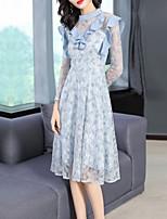 cheap -FRMZ Women's Elegant A Line Dress Lace / Cut Out / Ruffle