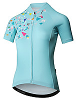 cheap -Mysenlan Women's Short Sleeve Cycling Jersey - Mint Green Bike Jersey Polyester / YKK Zipper