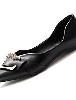 Недорогие -Жен. Полиуретан Осень Удобная обувь На плокой подошве На плоской подошве Заостренный носок Черный / Бежевый / Темно-русый
