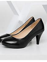 abordables -Femme Chaussures Cuir Nappa Printemps Confort Chaussures à Talons Talon Aiguille Noir