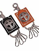 abordables -Croix Porte-clés Noir / Brun claire Forme Géométrique Cuir, Alliage Ordinaire, Mode Pour Rendez-vous / Plein Air