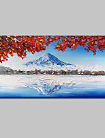 abordables -Pintura al óleo pintada a colgar Pintada a mano - Abstracto / Paisaje Modern Lona