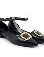 Недорогие -Жен. Обувь Наппа Leather Весна Туфли лодочки Обувь на каблуках На низком каблуке Белый / Черный