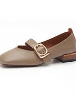 Недорогие -Жен. Обувь Полиуретан Весна лето Удобная обувь На плокой подошве На плоской подошве Черный / Бежевый / Серый