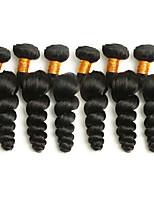 cheap -6 Bundles Brazilian Hair Loose Wave Human Hair Natural Color Hair Weaves / Hair Bulk / Bundle Hair / One Pack Solution 8-28 inch Natural Color Human Hair Weaves Extention / Best Quality / Hot Sale