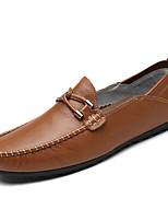 cheap -Men's Moccasin Nappa Leather Summer Comfort Loafers & Slip-Ons Yellow / Brown / Blue / Party & Evening
