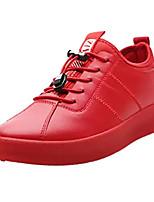 Недорогие -Муж. Полиуретан Осень Удобная обувь Кеды Белый / Черный / Красный