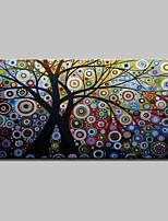 preiswerte -Hang-Ölgemälde Handgemalte - Abstrakt / Blumenmuster / Botanisch Klassisch / Modern Segeltuch