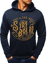 cheap -men's plus size long sleeve slim hoodie - letter hooded