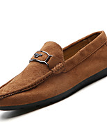 cheap -Men's Moccasin PU(Polyurethane) Fall Loafers & Slip-Ons Black / Gray / Brown