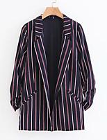 cheap -Women's Basic Blazer-Striped
