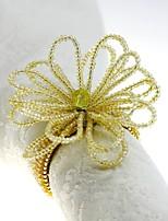 preiswerte -Klassisch Glas / Kunststoff Kreisförmig Servietten Ring Solide Tischdekorationen 12 pcs