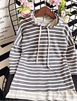 abordables -Enfants Fille Rayé Manches Longues Robe