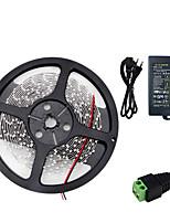 baratos -HKV 5m Faixas de Luzes LED Flexíveis 300 LEDs SMD5630 Adaptador de energia 1 X 5A Vermelho / Azul / Verde Cortável / Conetável / Auto-Adesivo 100-240 V