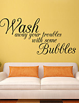 cheap -Decorate Wash Away Hyour Troubles Art Wall Sticker Decoration Decals Mural Painting Removable Decor Wallpaper