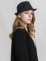cheap -Unisex Basic Fedora Hat - Solid Colored