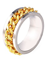 cheap -Men's Lasso Ring - Stainless Steel Creative Trendy, Fashion 6 / 7 / 8 / 9 / 10 Silver For Gift Daily