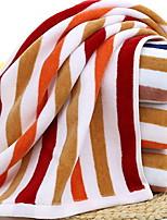 abordables -Qualité supérieure Serviette, Lignes / Vagues 100% Coton Salle de  Bain 1 pcs