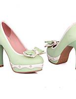 Недорогие -Жен. Обувь Полиуретан Весна Туфли лодочки Обувь на каблуках На шпильке Черный / Зеленый / Розовый