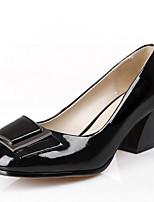 Недорогие -Жен. Комфортная обувь Наппа Leather Весна Обувь на каблуках На толстом каблуке Черный / Синий