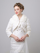 cheap -3/4 Length Sleeve Faux Fur Wedding / Birthday Women's Wrap With Pendant Coats / Jackets