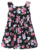 cheap -Kids / Toddler Girls' Floral / Jacquard Sleeveless Dress