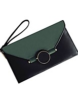 cheap -Women's Bags PU(Polyurethane) Clutch Buttons Blushing Pink / Dark Green / Brown