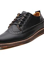 Недорогие -Муж. Легкие подошвы Полиуретан Весна Туфли на шнуровке Черный / Серый